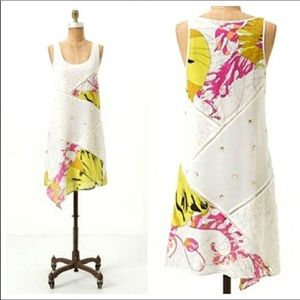 Anthropologie-Leifnotes-Patchwork Silk Blend Dress